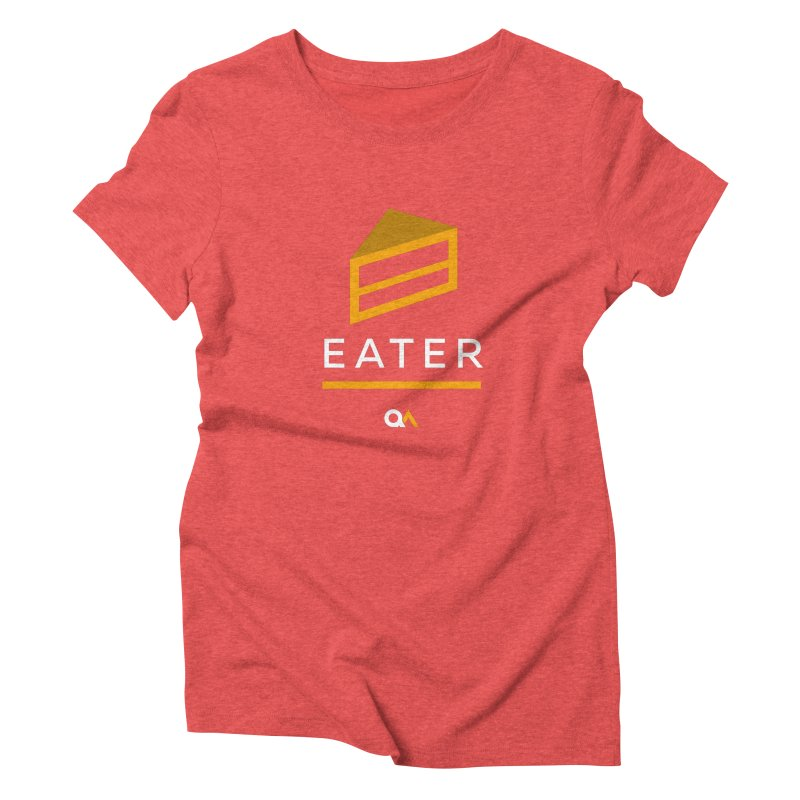 The Cake Eater | Dark Women's Triblend T-Shirt by The Quack Attack