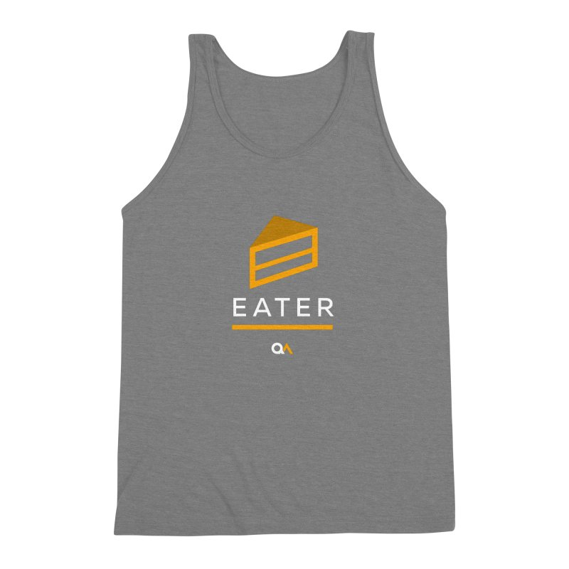 The Cake Eater | Dark Men's Triblend Tank by The Quack Attack