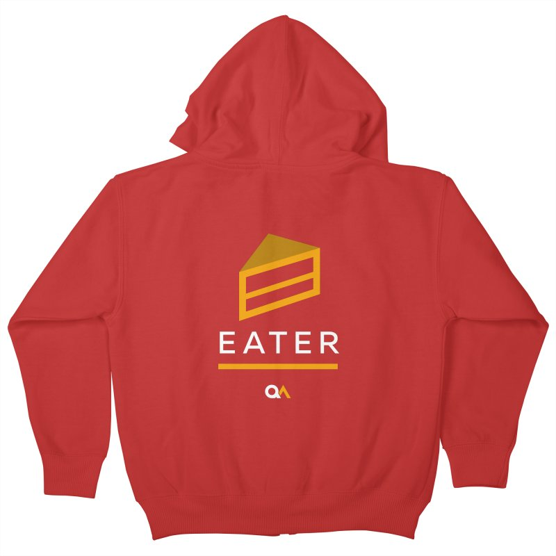 The Cake Eater | Dark Kids Zip-Up Hoody by The Quack Attack