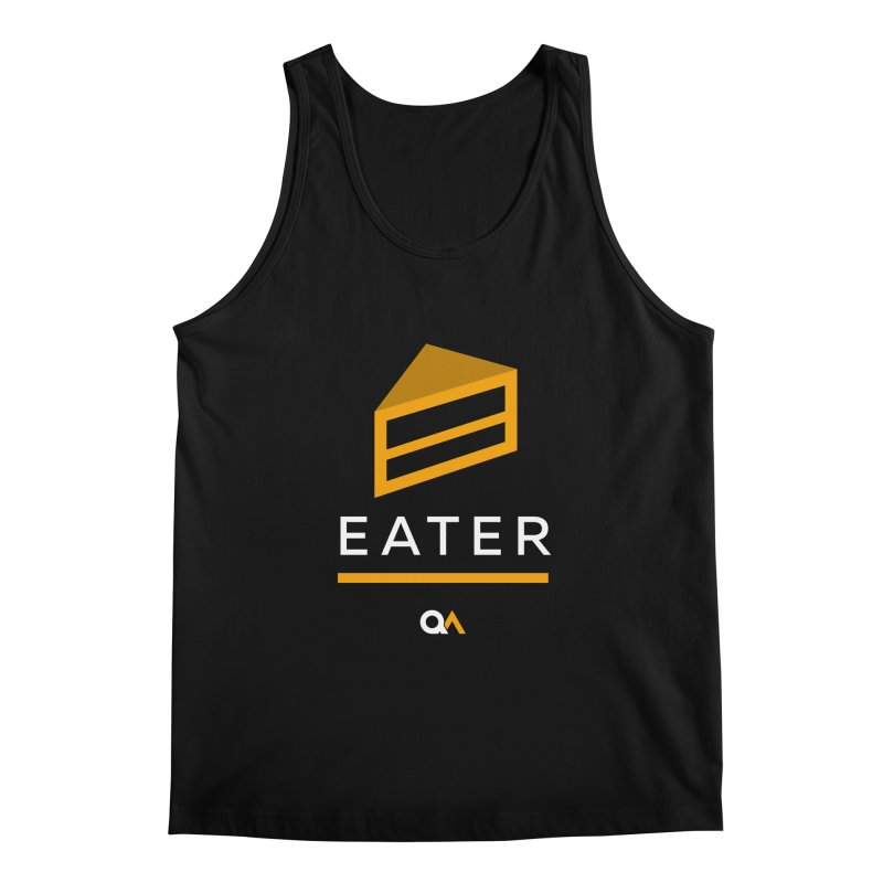 The Cake Eater | Dark Men's Regular Tank by The Quack Attack