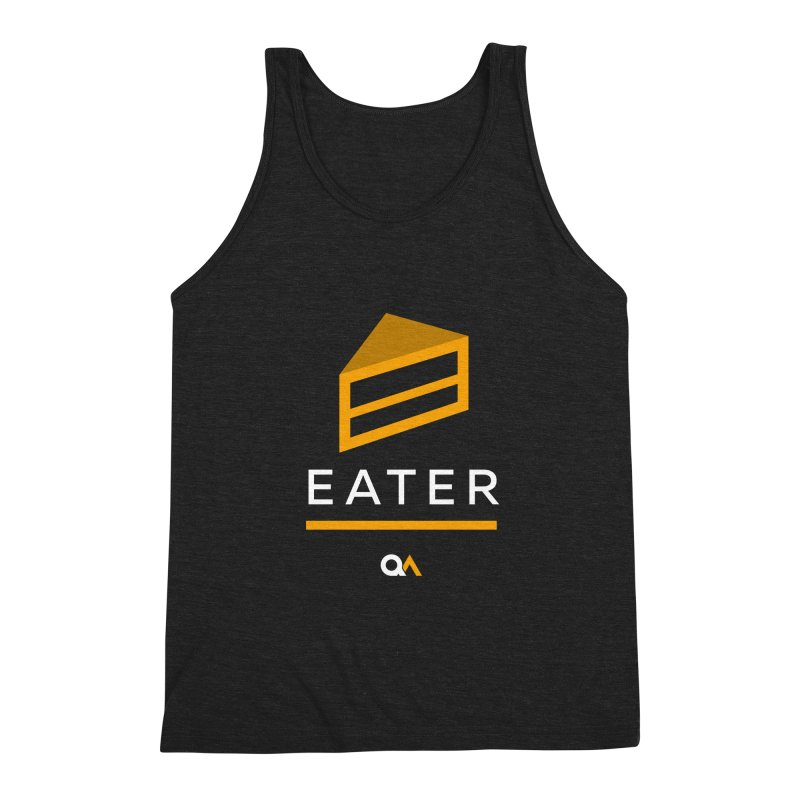 The Cake Eater   Dark Men's Triblend Tank by The Quack Attack