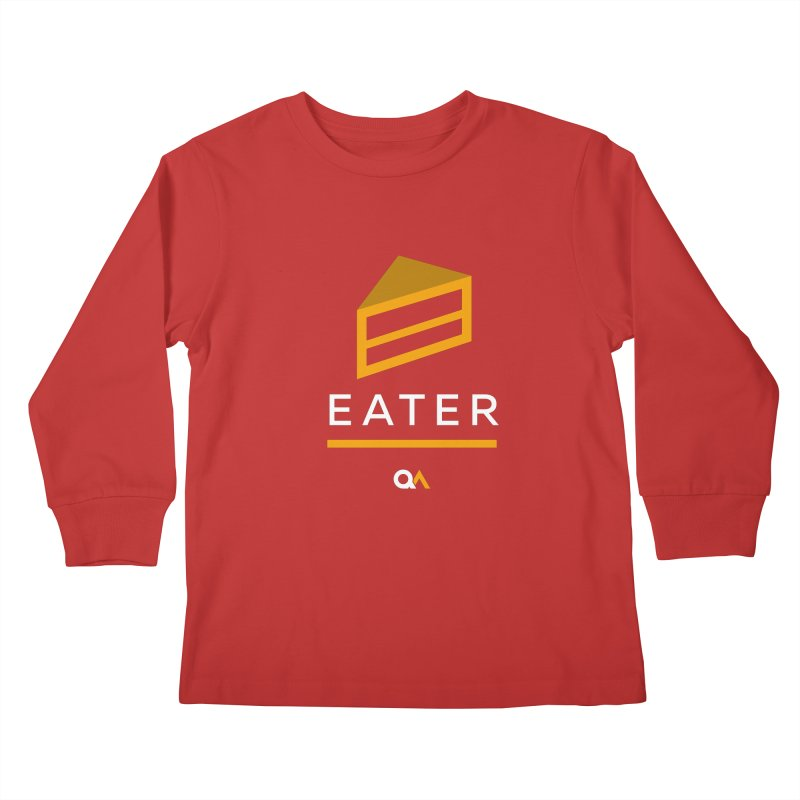 The Cake Eater   Dark Kids Longsleeve T-Shirt by The Quack Attack