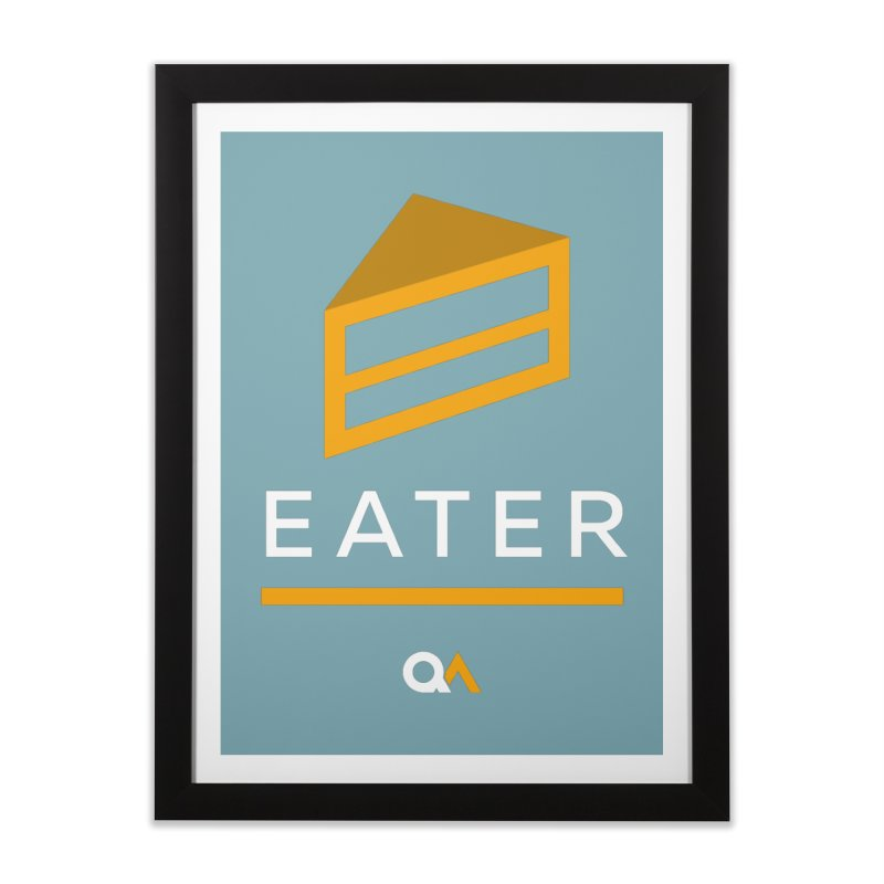 The Cake Eater | Dark Home Framed Fine Art Print by The Quack Attack