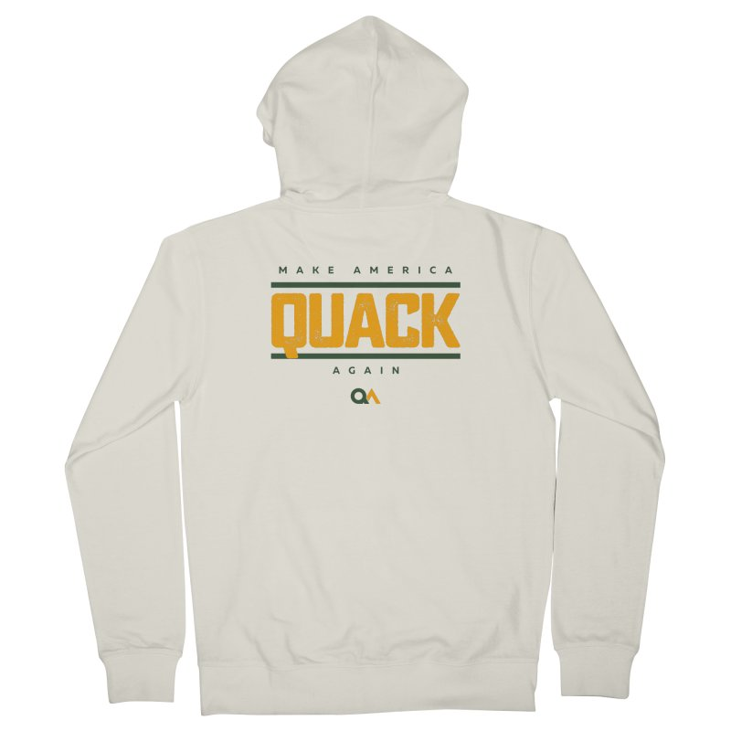 The Politician | Light Men's French Terry Zip-Up Hoody by The Quack Attack