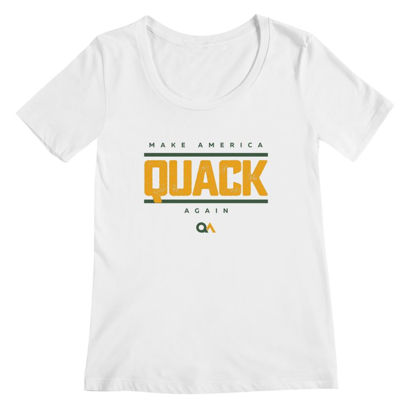The Politician | Light Women's Regular Scoop Neck by The Quack Attack
