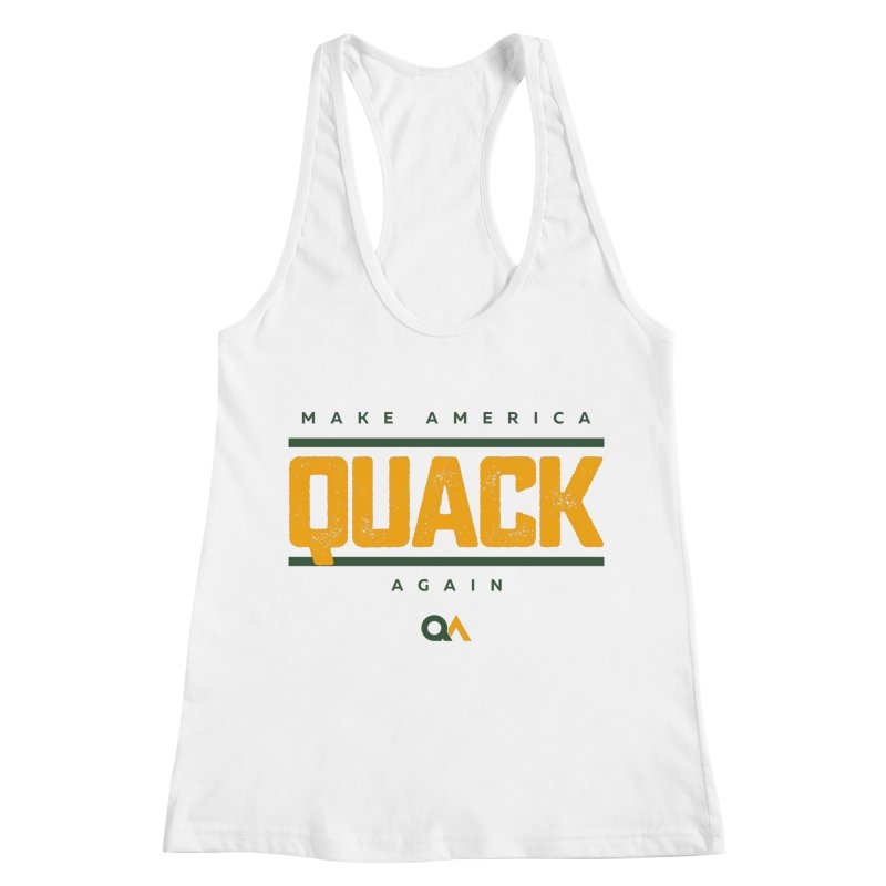 The Politician | Light Women's Racerback Tank by The Quack Attack