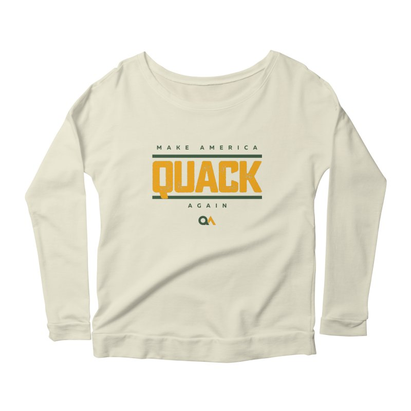 The Politician | Light Women's Longsleeve Scoopneck  by The Quack Attack