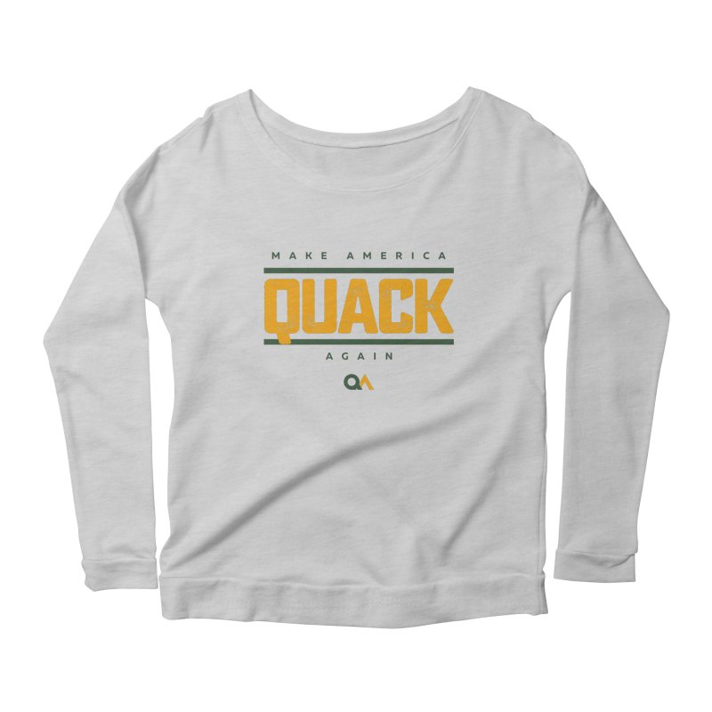 The Politician | Light Women's Scoop Neck Longsleeve T-Shirt by The Quack Attack