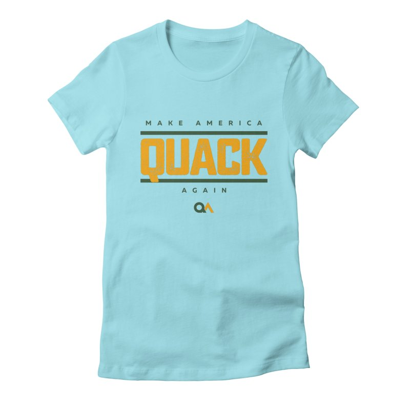 The Politician | Light Women's Fitted T-Shirt by The Quack Attack