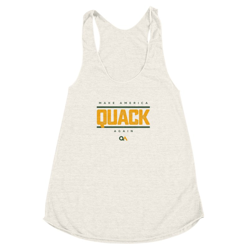 The Politician | Light Women's Racerback Triblend Tank by The Quack Attack