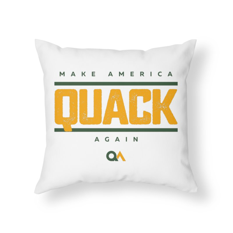 The Politician | Light Home Throw Pillow by The Quack Attack
