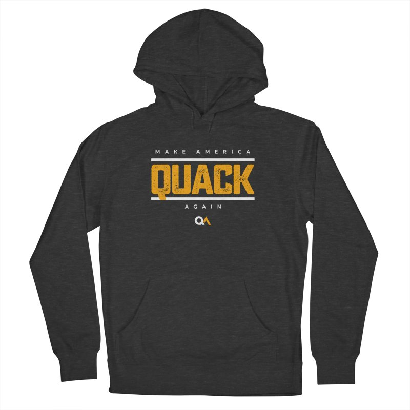 The Politician | Dark Women's French Terry Pullover Hoody by The Quack Attack