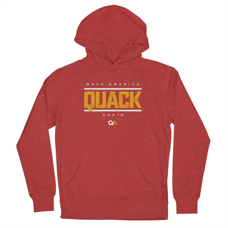 The Politician | Dark Men's French Terry Pullover Hoody by The Quack Attack