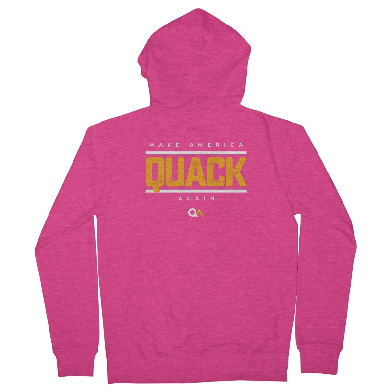 The Politician   Dark Women's French Terry Zip-Up Hoody by The Quack Attack