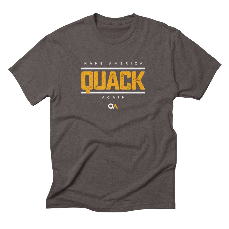 The Politician | Dark Men's Triblend T-Shirt by The Quack Attack