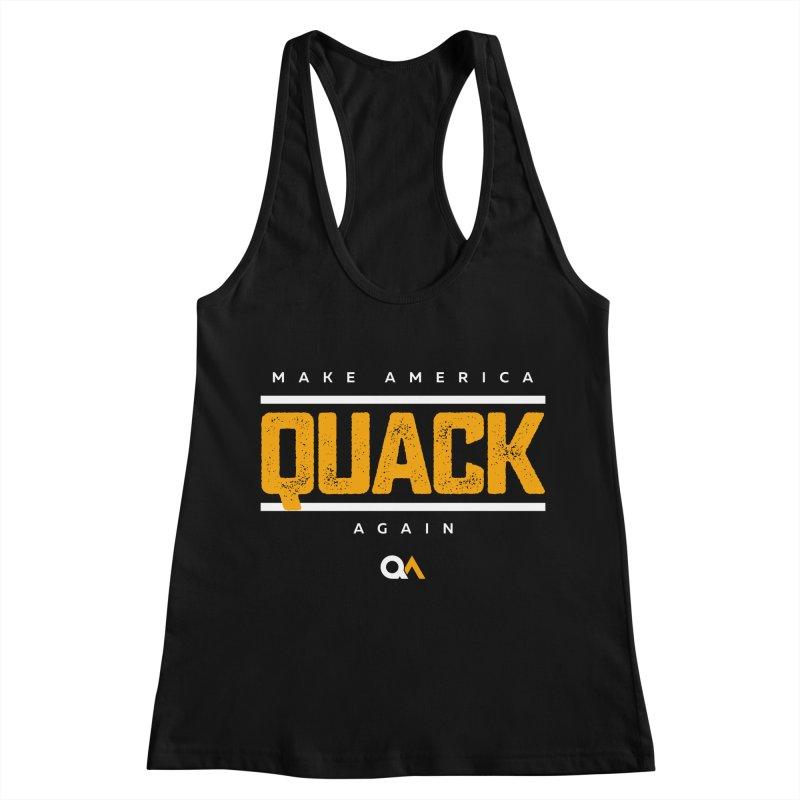 The Politician | Dark Women's Racerback Tank by The Quack Attack