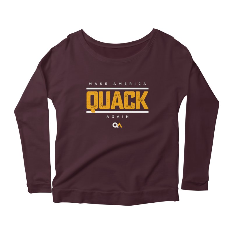 The Politician | Dark Women's Longsleeve Scoopneck  by The Quack Attack