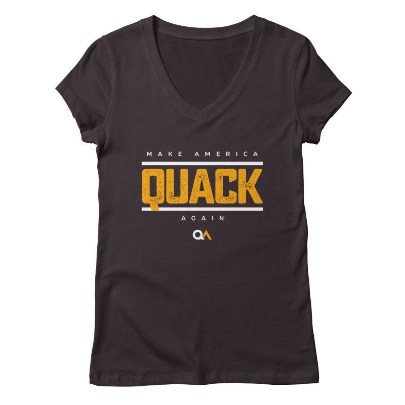 The Politician | Dark Women's V-Neck by The Quack Attack