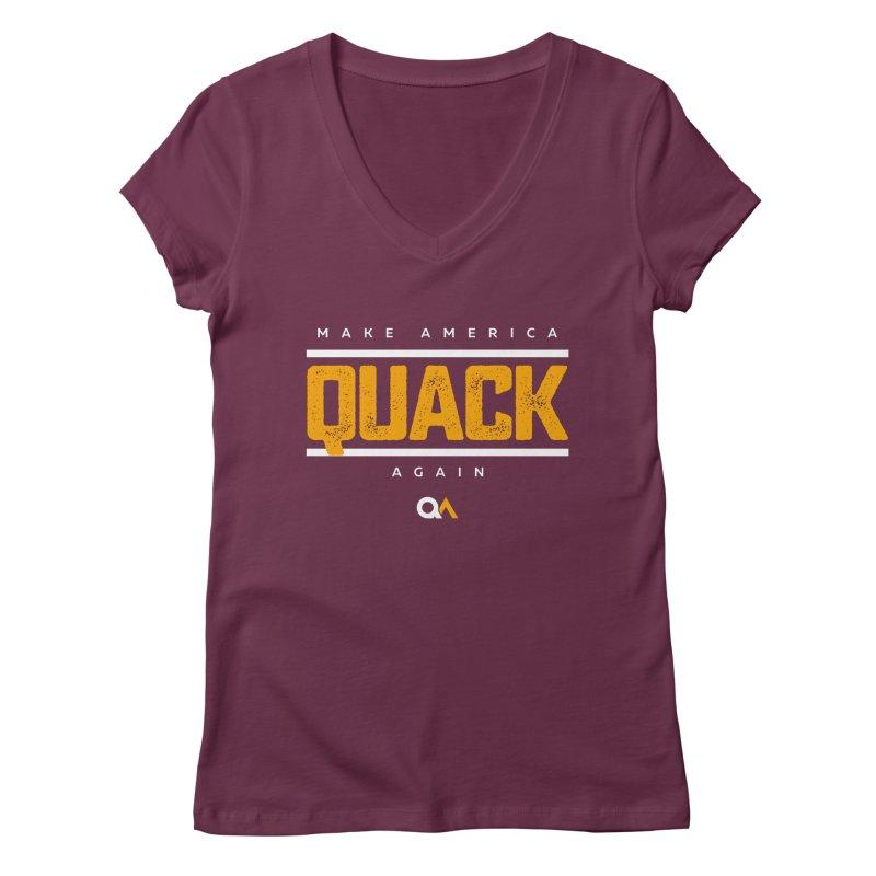 The Politician | Dark Women's V-Neck by The Quack Attack