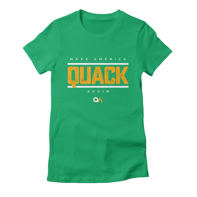 The Politician   Dark Women's Fitted T-Shirt by The Quack Attack