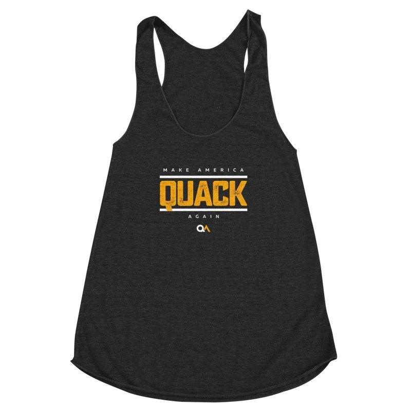 The Politician | Dark Women's Racerback Triblend Tank by The Quack Attack