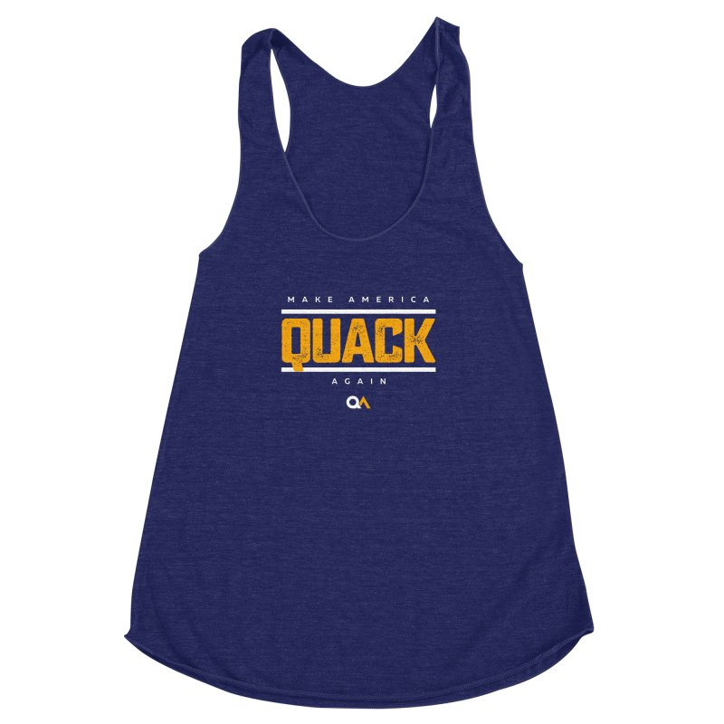 The Politician | Dark Women's Racerback Triblend Tank by The Quack Attack