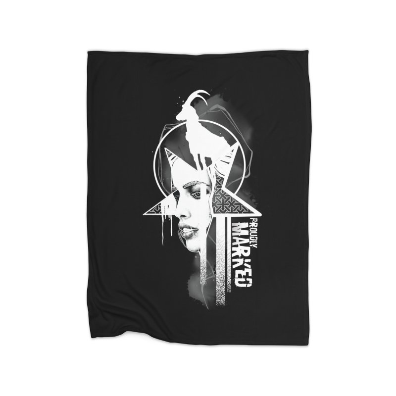 The Witch by Justin Nordine Tattoos Home Fleece Blanket Blanket by RAW: APPAREL
