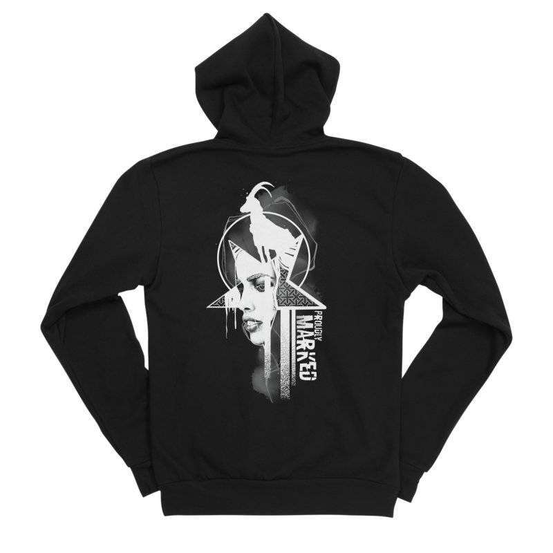 The Witch by Justin Nordine Tattoos Men's Sponge Fleece Zip-Up Hoody by RAW: APPAREL
