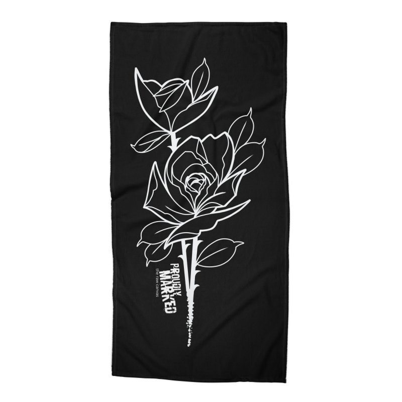 Roses by Robbie Campbell Tattoos Accessories Beach Towel by RAW: APPAREL