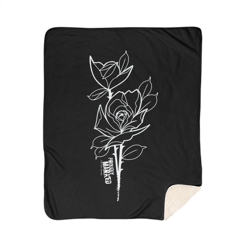 Roses by Robbie Campbell Tattoos Home Sherpa Blanket Blanket by RAW: APPAREL