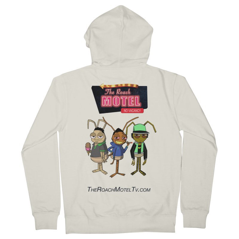 The Roach Motel (White) Women's French Terry Zip-Up Hoody by The Roach Motel's Artist Shop