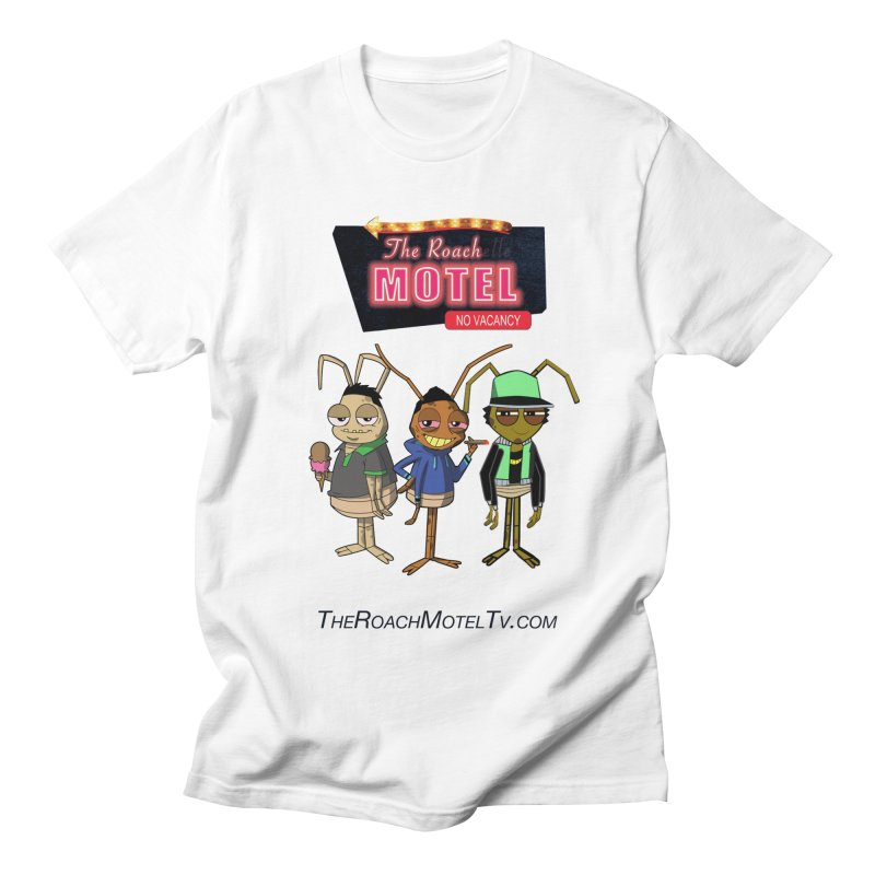 The Roach Motel (White) Men's Regular T-Shirt by The Roach Motel's Artist Shop