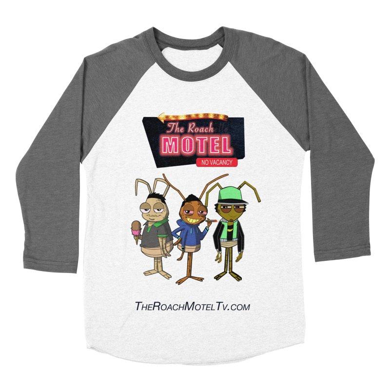 The Roach Motel (White) Men's Baseball Triblend Longsleeve T-Shirt by The Roach Motel's Artist Shop