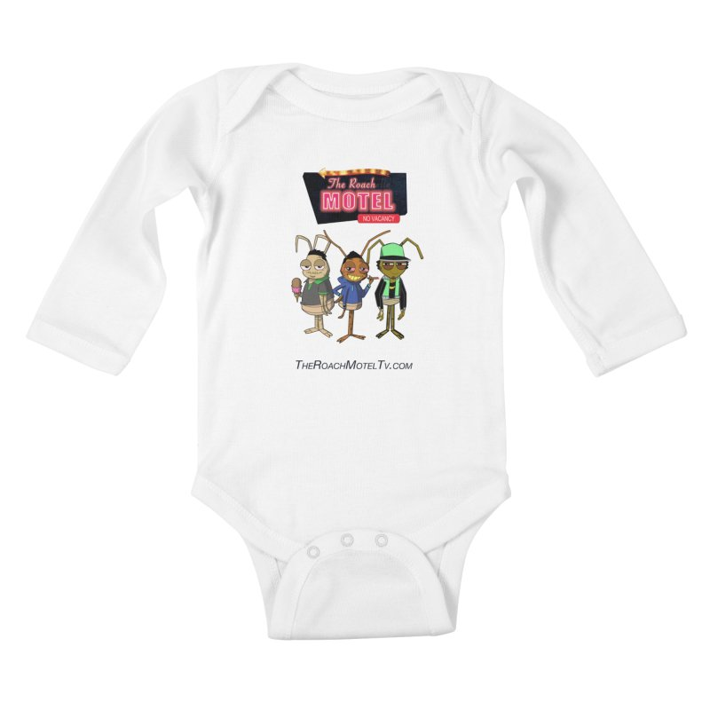 The Roach Motel (White) Kids Baby Longsleeve Bodysuit by The Roach Motel's Artist Shop