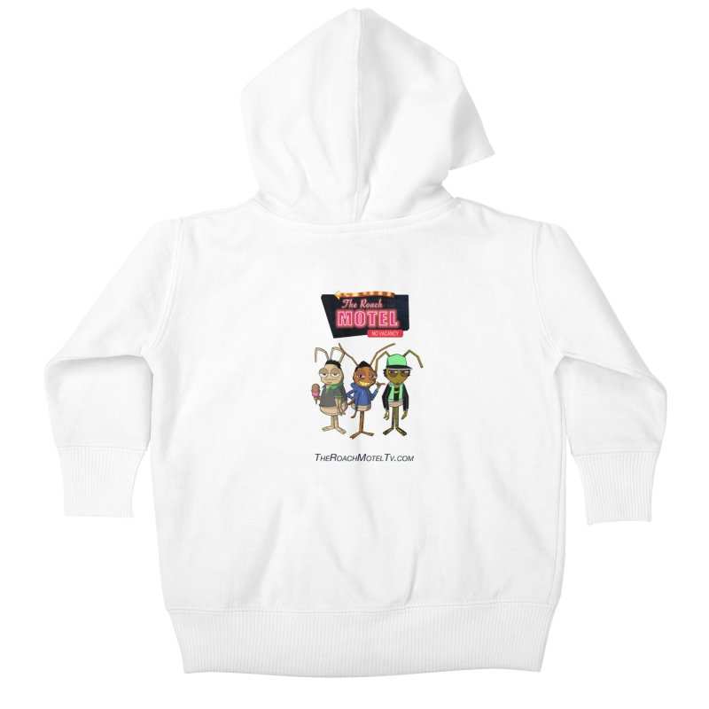 The Roach Motel (White) Kids Baby Zip-Up Hoody by The Roach Motel's Artist Shop