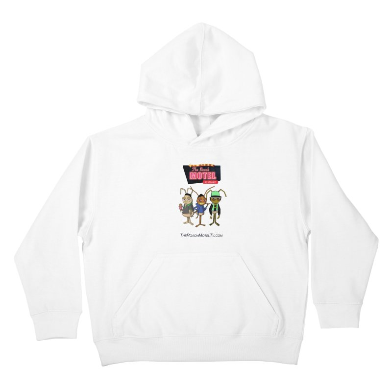 The Roach Motel (White) Kids Pullover Hoody by The Roach Motel's Artist Shop