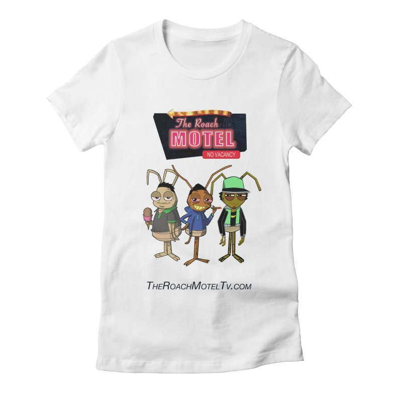 The Roach Motel (White) Women's Fitted T-Shirt by The Roach Motel's Artist Shop
