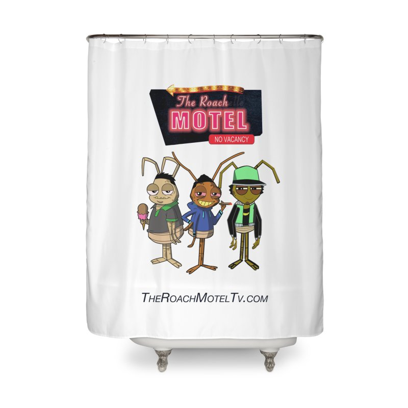 The Roach Motel (White) Home Shower Curtain by The Roach Motel's Artist Shop