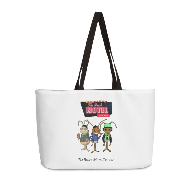 The Roach Motel (White) Accessories Weekender Bag Bag by The Roach Motel's Artist Shop