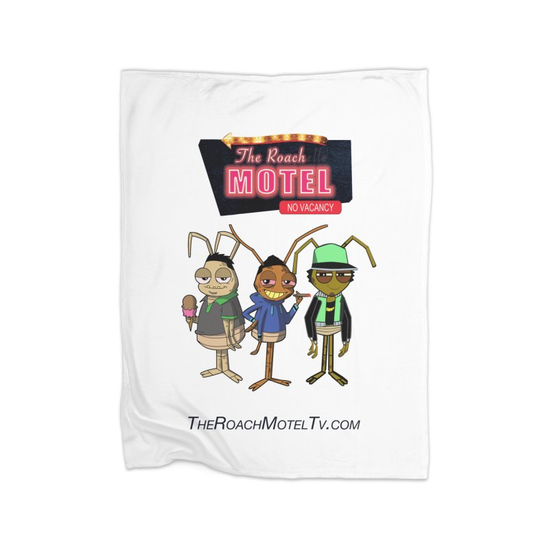 The Roach Motel (White) Home Blanket by The Roach Motel's Artist Shop