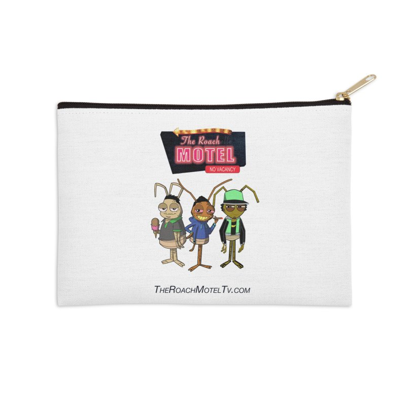The Roach Motel (White) Accessories Zip Pouch by The Roach Motel's Artist Shop