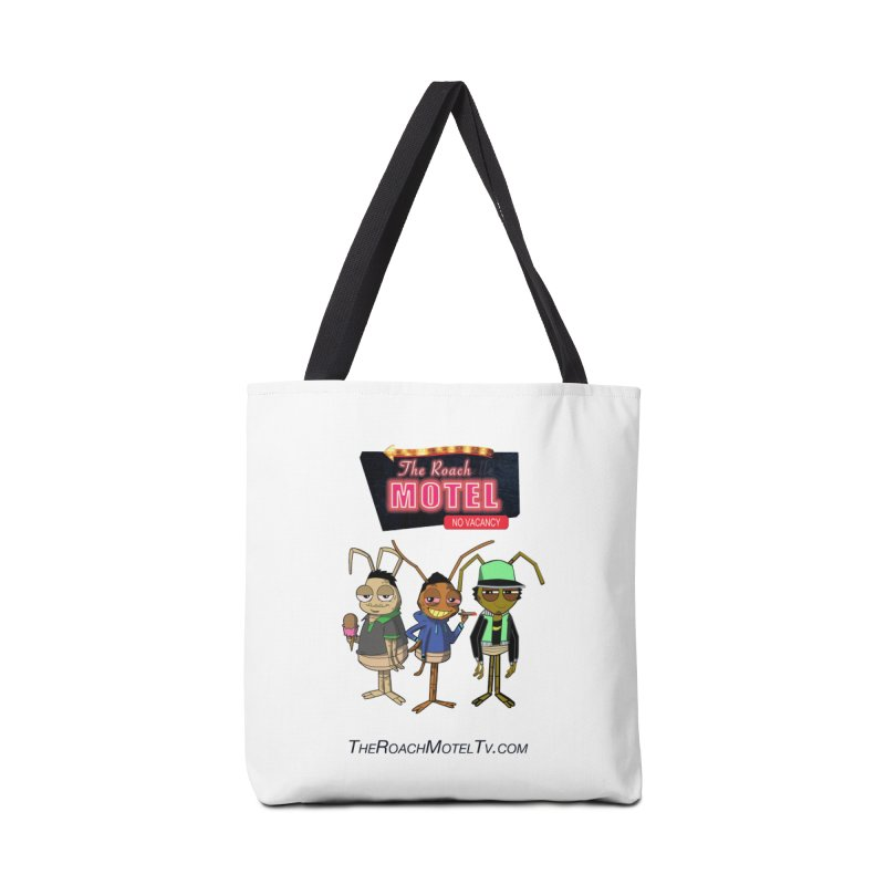 The Roach Motel (White) Accessories Tote Bag Bag by The Roach Motel's Artist Shop