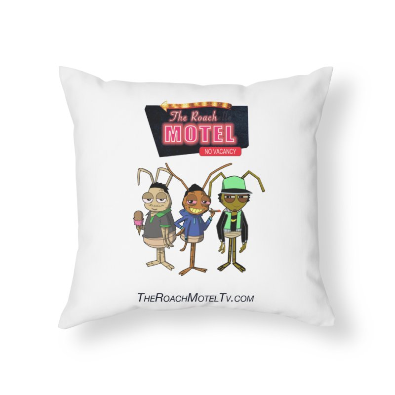 The Roach Motel (White) Home Throw Pillow by The Roach Motel's Artist Shop