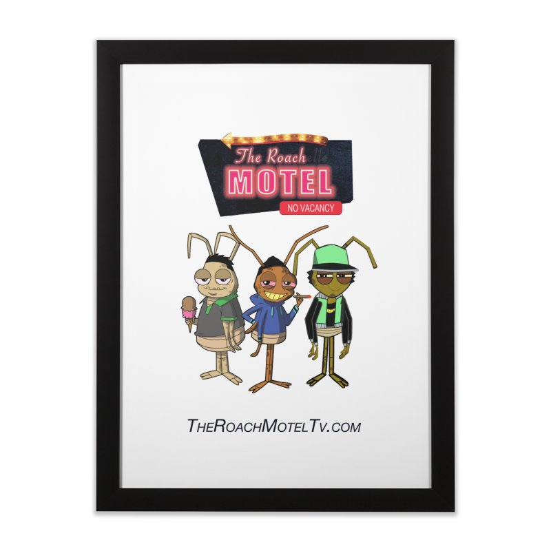 The Roach Motel (White) Home Framed Fine Art Print by The Roach Motel's Artist Shop