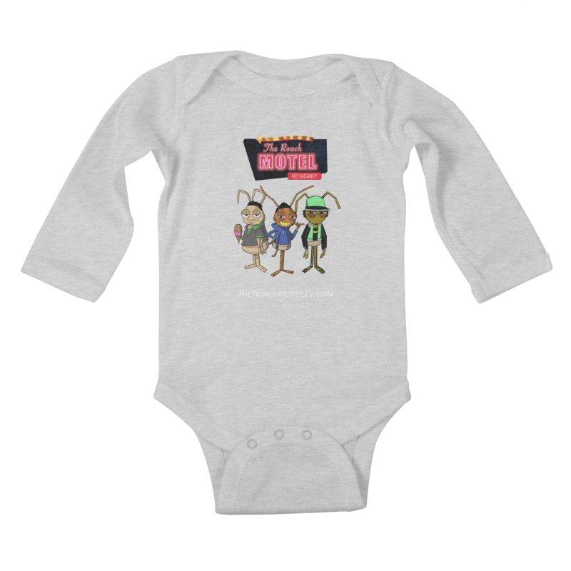 The Roach Motel (Colors) Kids Baby Longsleeve Bodysuit by The Roach Motel's Artist Shop