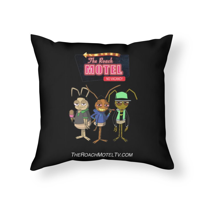 The Roach Motel (Colors) Home Throw Pillow by The Roach Motel's Artist Shop