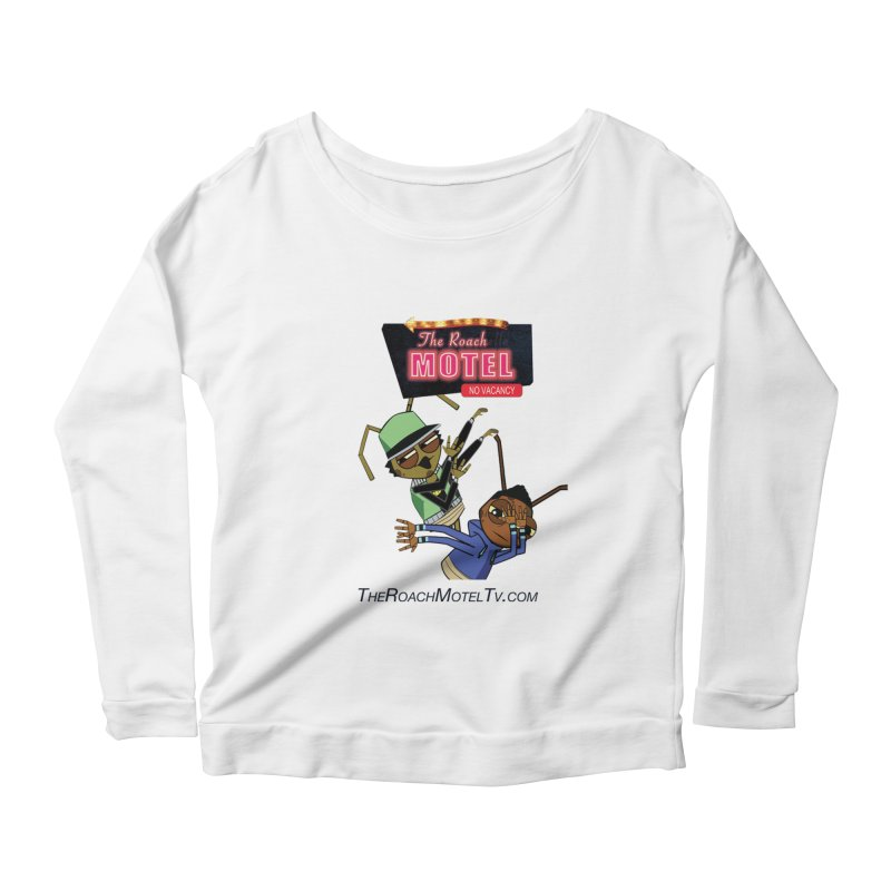 Roach DAB (White) Women's Scoop Neck Longsleeve T-Shirt by The Roach Motel's Artist Shop