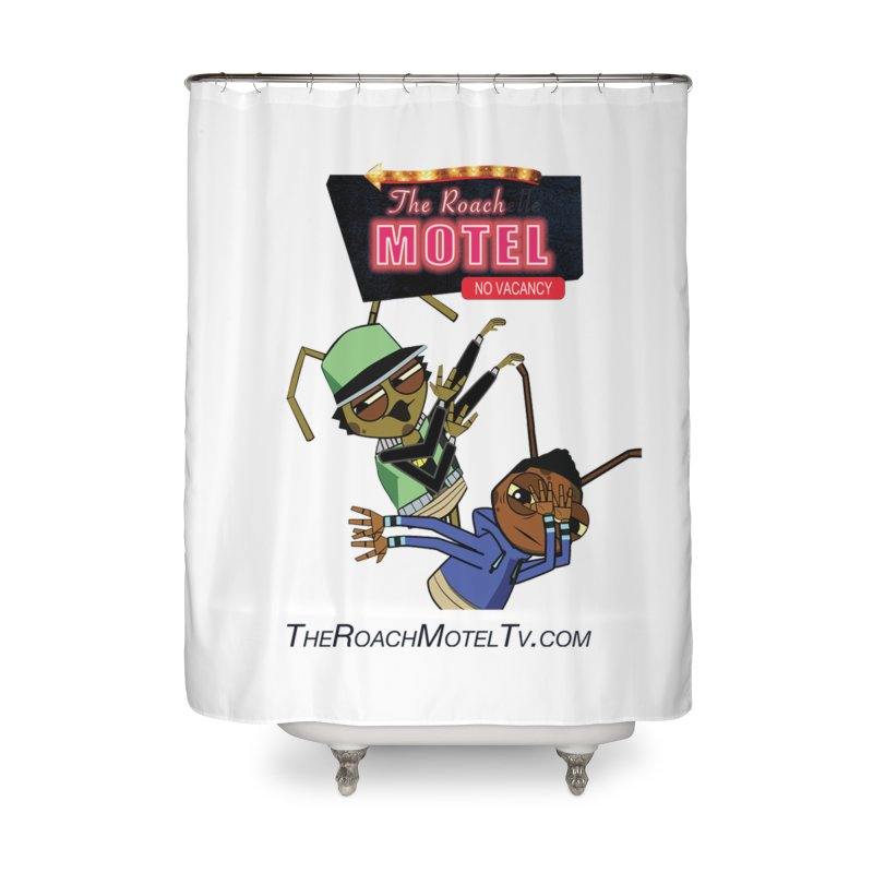 Roach DAB (White) Home Shower Curtain by The Roach Motel's Artist Shop