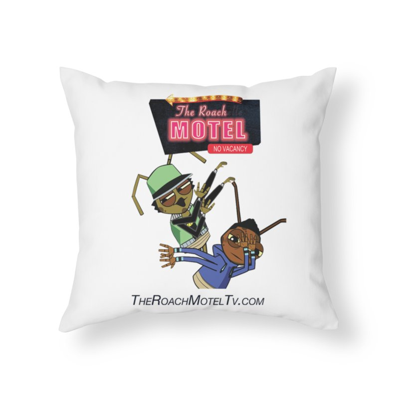 Roach DAB (White) Home Throw Pillow by The Roach Motel's Artist Shop