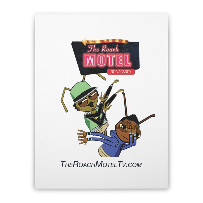 Roach DAB (White) Home Stretched Canvas by The Roach Motel's Artist Shop